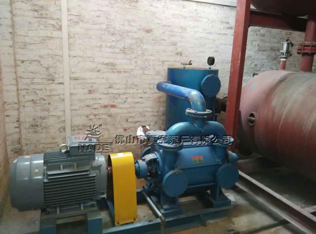 耀新泡沫厂应用佛山市热博登录厂有限公司2BEF水环式热博登录用于真空脱水、真空成型